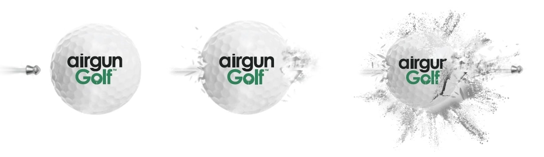 Airgun Golf exploding target
