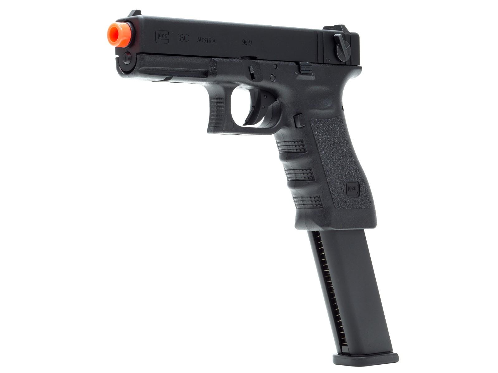 GLOCK G18C Gen3 GBB Airsoft Pistol, Extended Mag