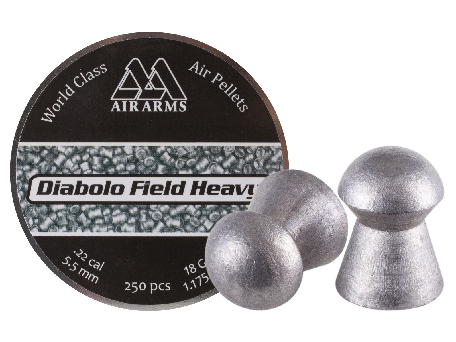 Air Arms Diabolo Field Heavy .22 Cal (5.52mm), 18 gr - 250ct