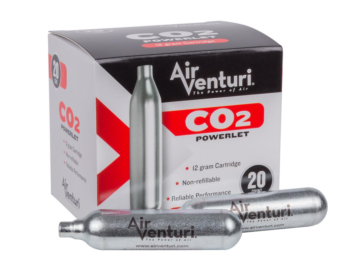 Air Venturi 12 Gram CO2 Cartridges, 20 Pack (*)