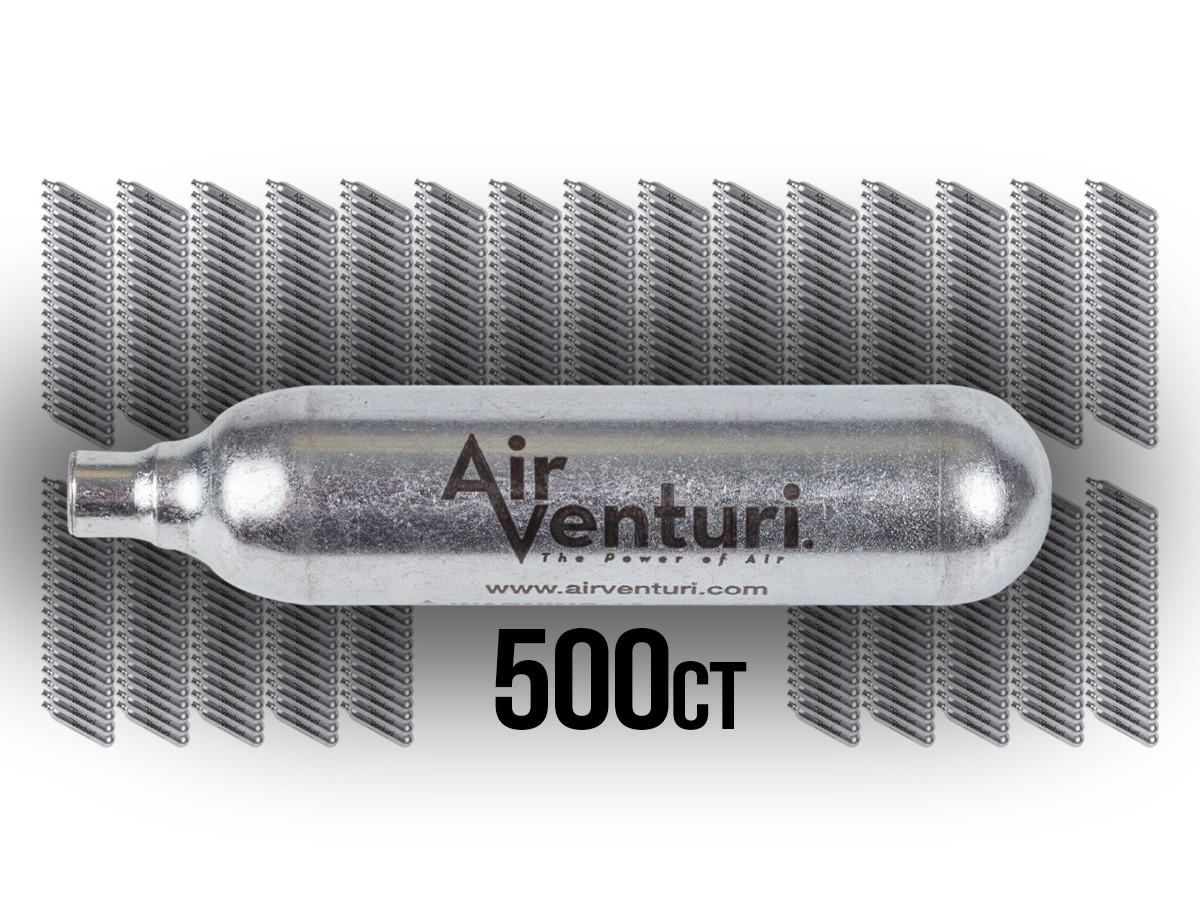 Air Venturi 12 Gram CO2 Cartridges, 500 Pack (*)