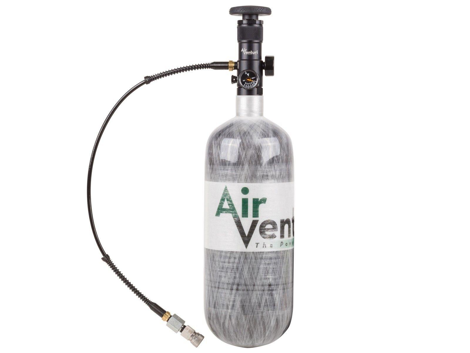 Air Venturi Carbon Fiber Tank 100 Cu In, EZ Valve