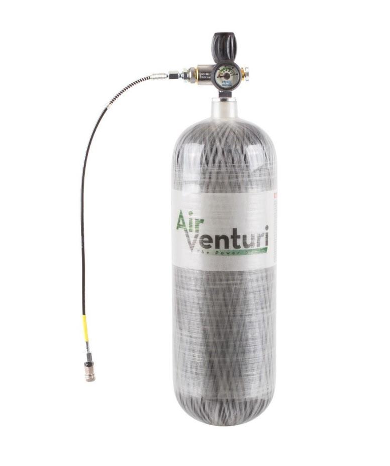 Air Venturi Carbon Fiber Tank 74 Cu Ft, Jubilee Valve