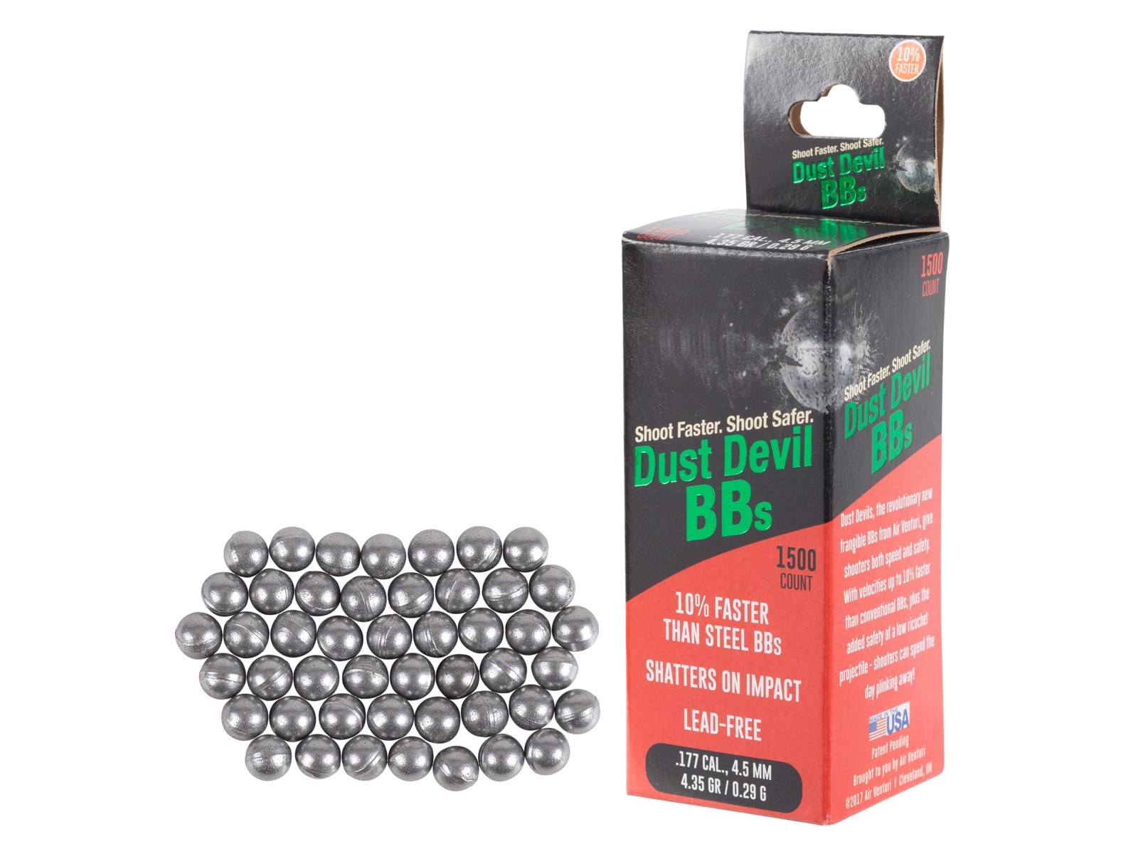Air Venturi Dust Devil Mk2 Frangible BBs - 1,500 ct.