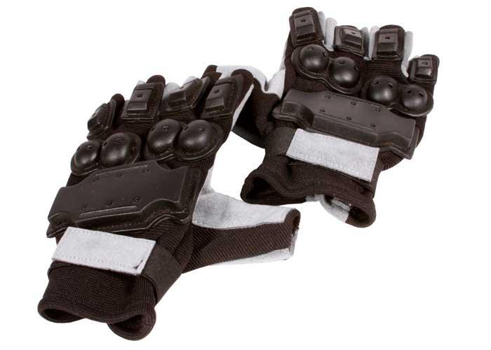 Air Venturi Full Armor Half-Finger Airsoft Gloves, Large