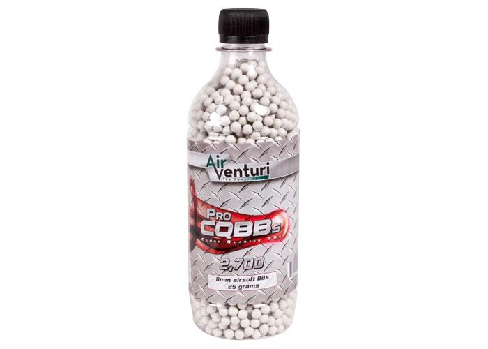 Air Venturi Pro CQBBs 6mm White Airsoft BBs, .25g - 2,700 ct