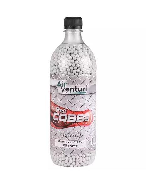 Air Venturi Pro CQBBs 6mm White Airsoft BBs, .25g - 5,000 ct
