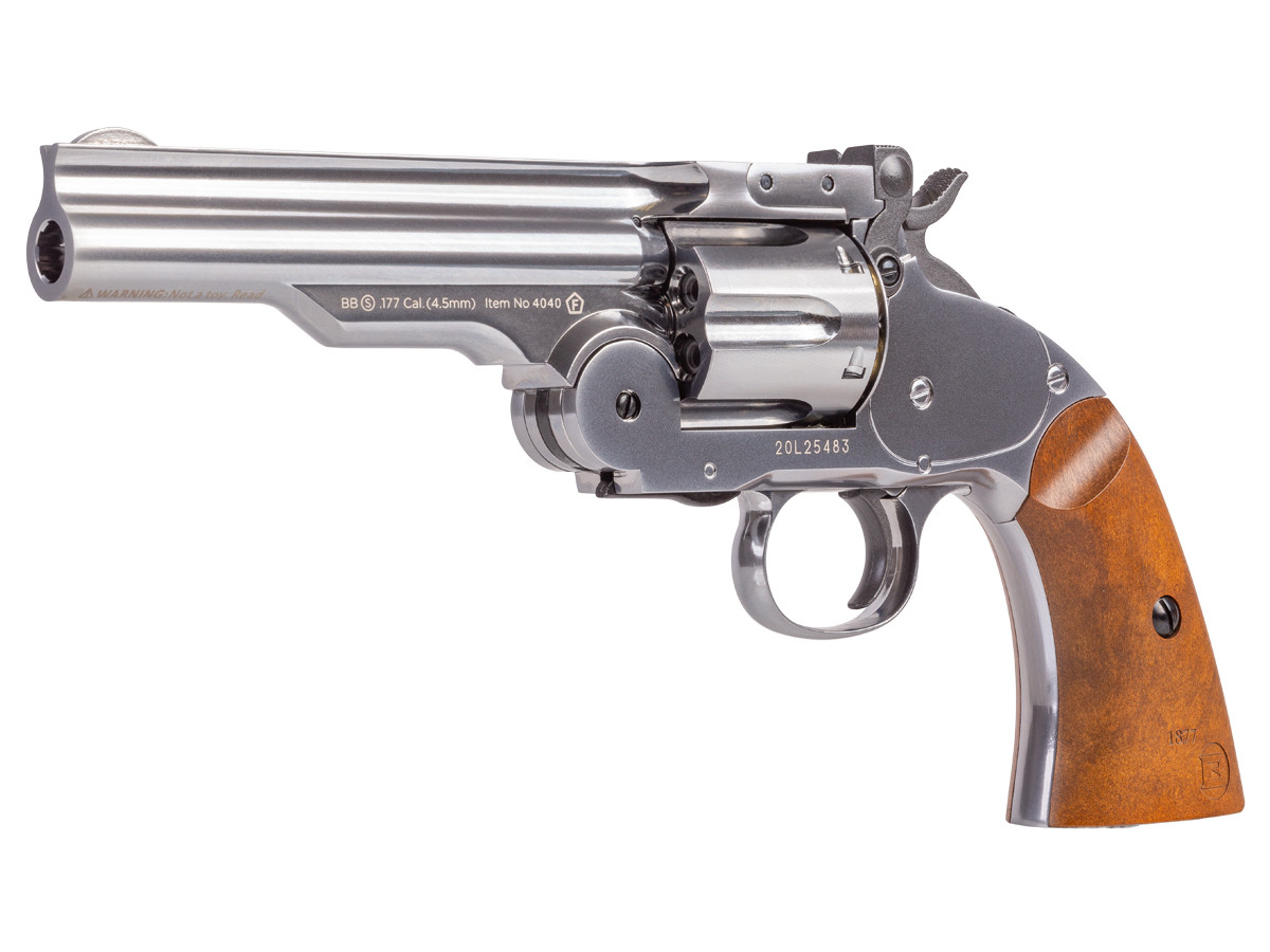 "Schofield No. 3 BB Revolver, 5"" Nickel"