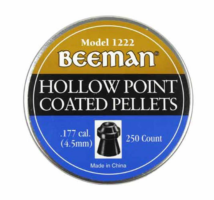 Beeman Hollow Point Coated .177 Cal, 7.2 gr - 250 ct