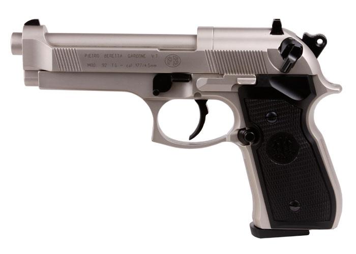Beretta M92FS Pellet Pistol, Nickel/Black