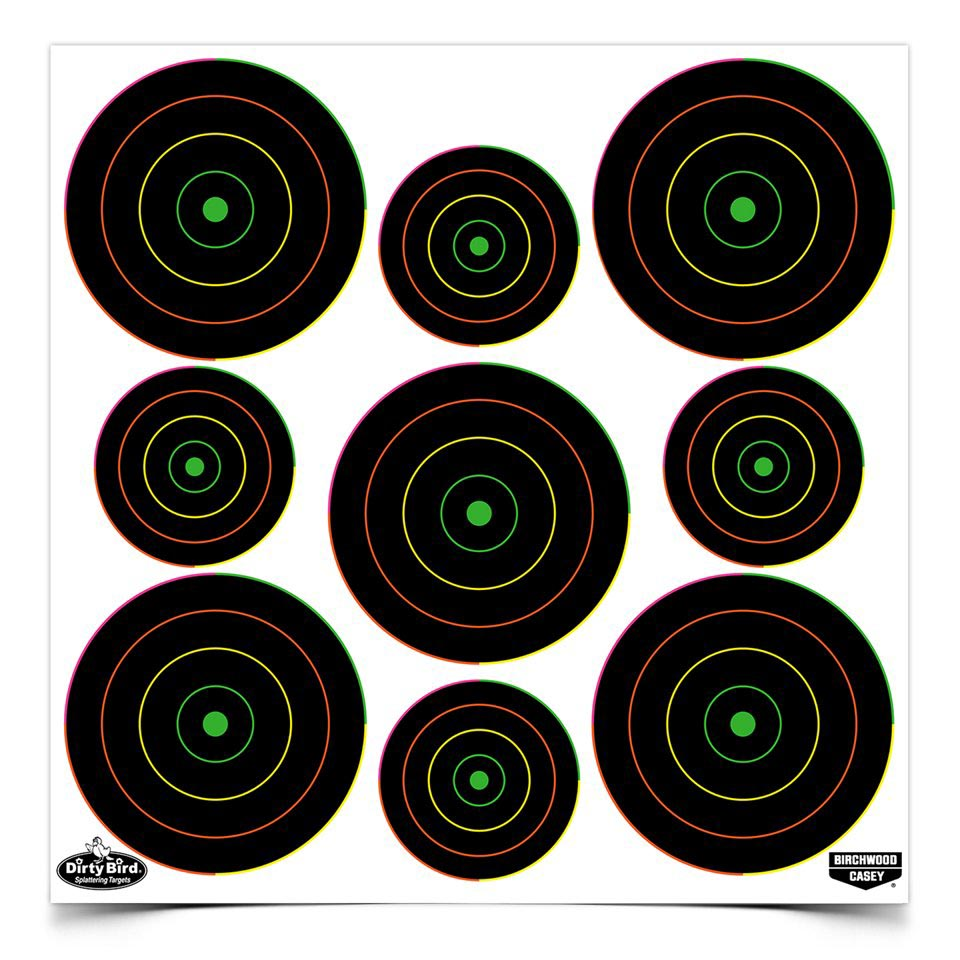 "Birchwood Casey Dirty Bird Multi-Color 2"" & 3"" Targets, 20 ct"
