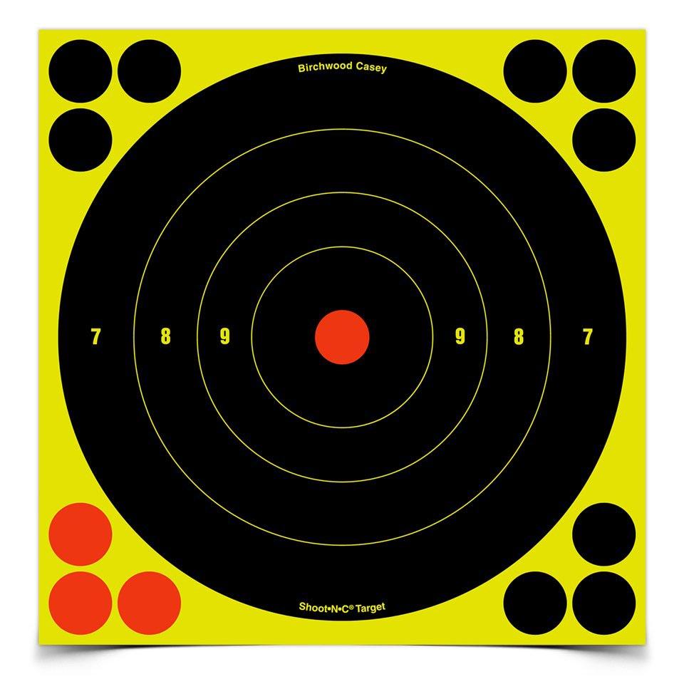 """Birchwood Casey Shoot-N-C 6"""" Round Target, 60 ct"""