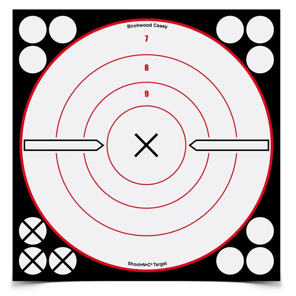"Birchwood Casey Shoot-N-C 8"" Bullseye X Targets, 6 ct"