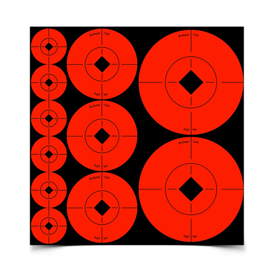 Birchwood Casey TSA-12 Target Spots Assortment, 12 ct