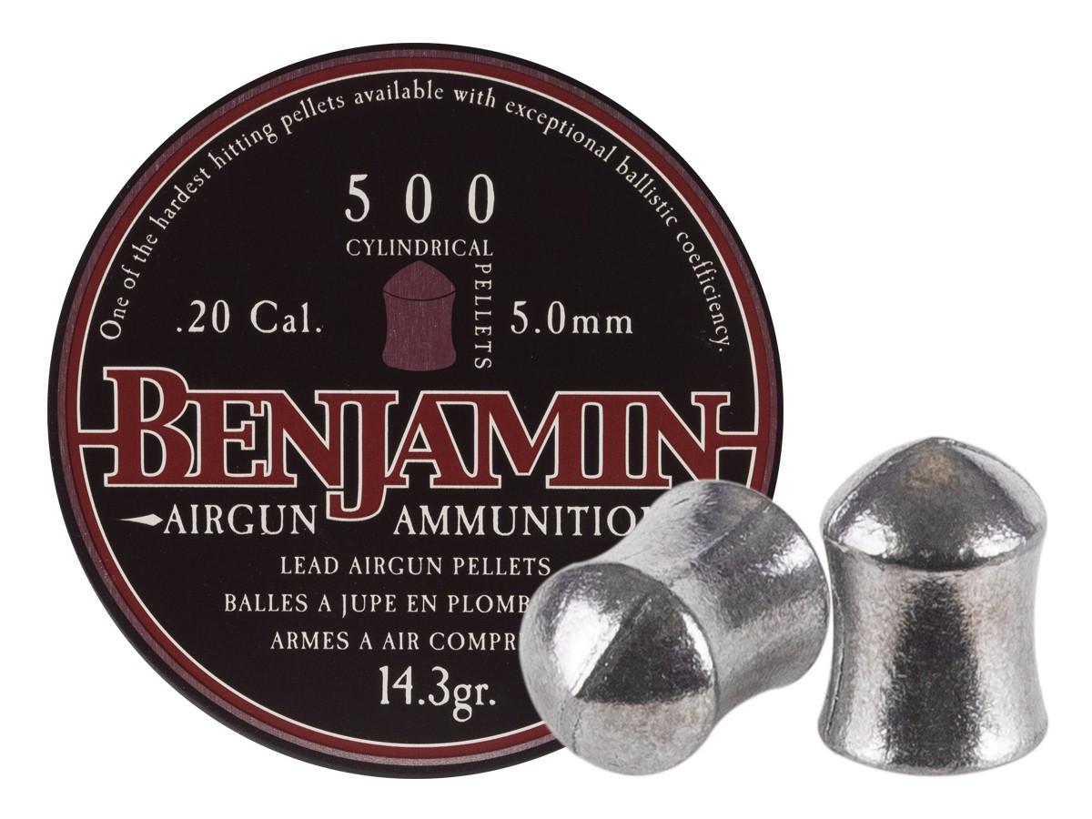 Benjamin Cylindrical .20 Cal, 14.3 gr - 500 ct