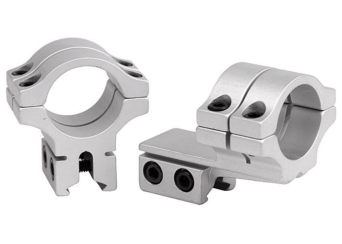 "BKL Double Strap Offset 1"" Rings, Dovetail, Silver"