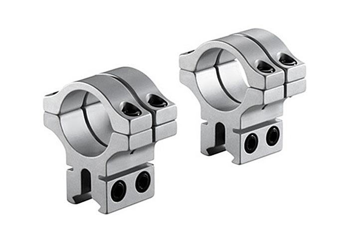 BKL Double Strap 30mm Rings, Dovetail, Silver