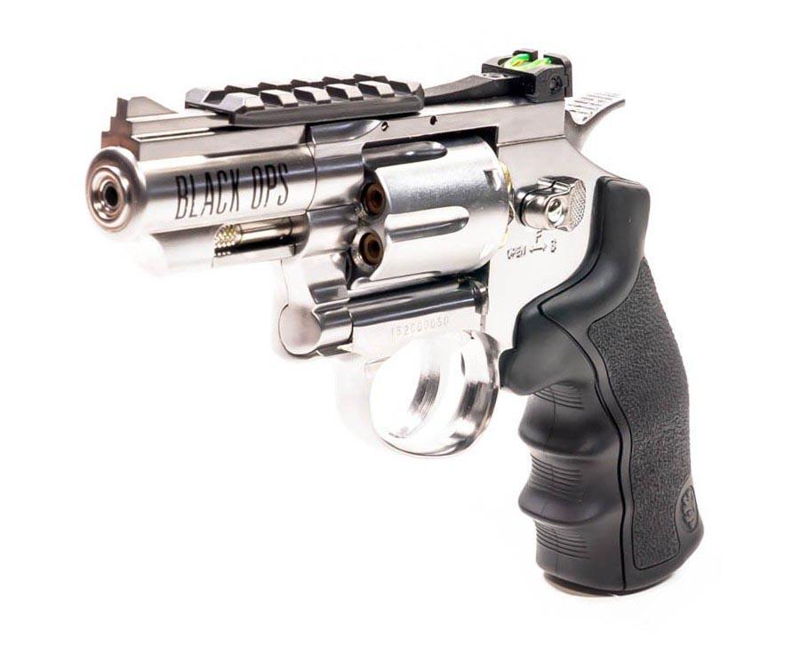 Black Ops Exterminator BB Revolver, Chrome