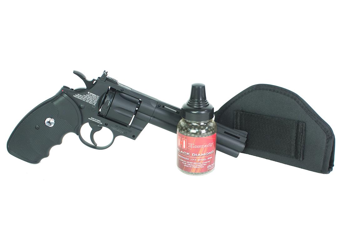 Colt Python Polymer BB Revolver, Black Ops Combo
