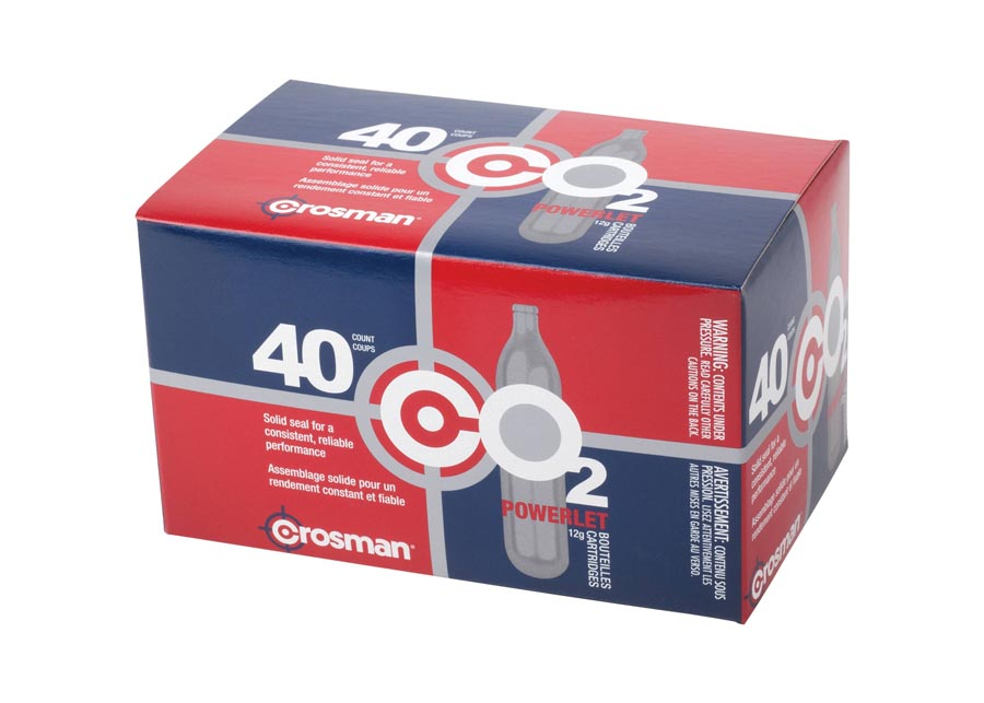 Crosman 12 gram CO2, 40 Pack (*)