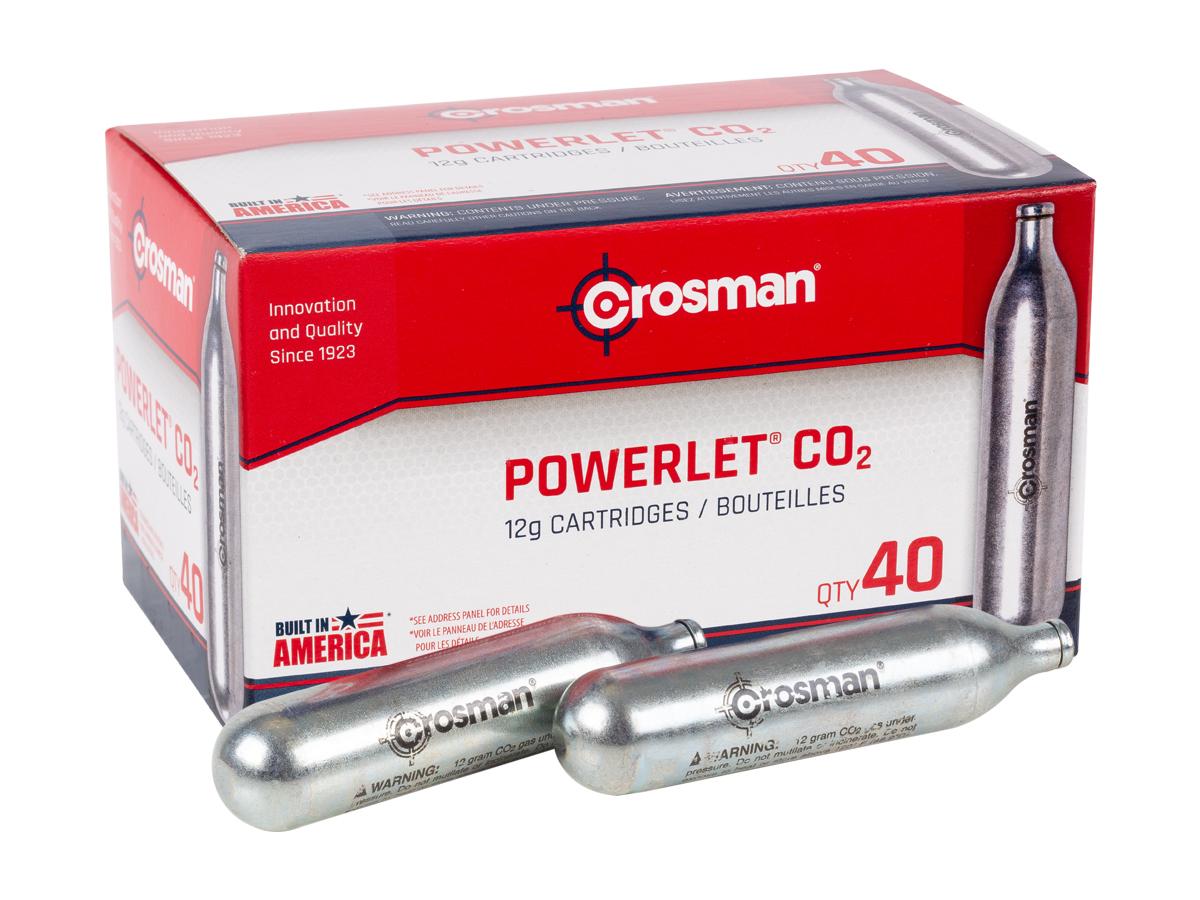 Crosman 12 gram CO2, 40 Pack