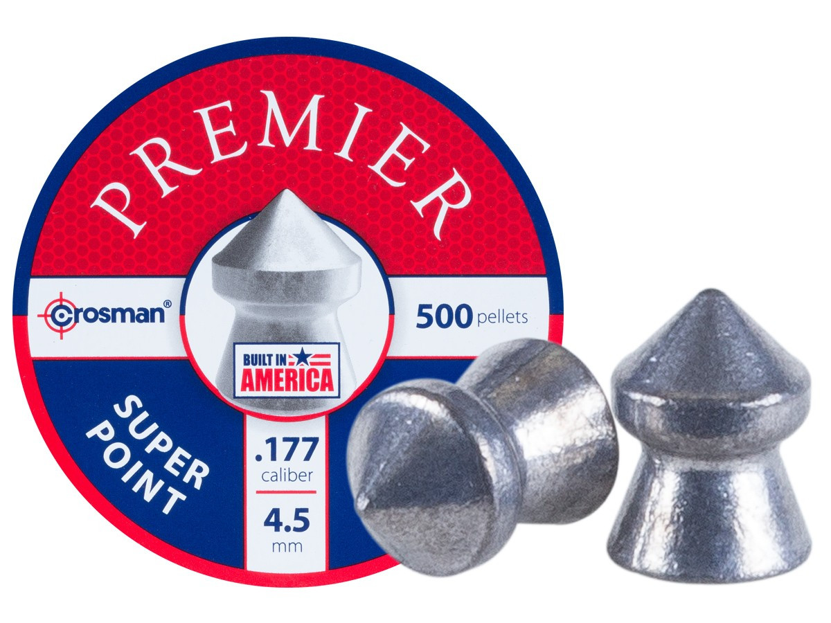 Crosman Premier Super Point .177 Cal, 7.9 gr - 500 ct