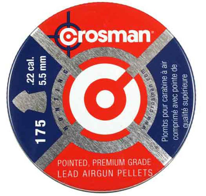 Crosman Pointed .22 Cal, 14.3 gr - 175 ct