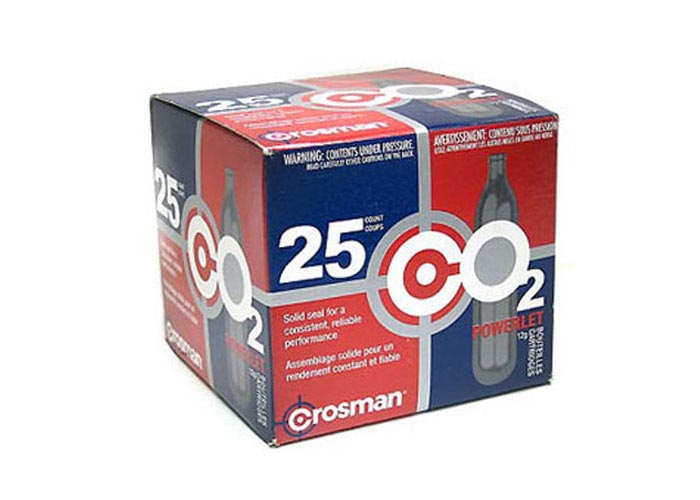 Crosman 12 gram CO2, 25 Pack (*)