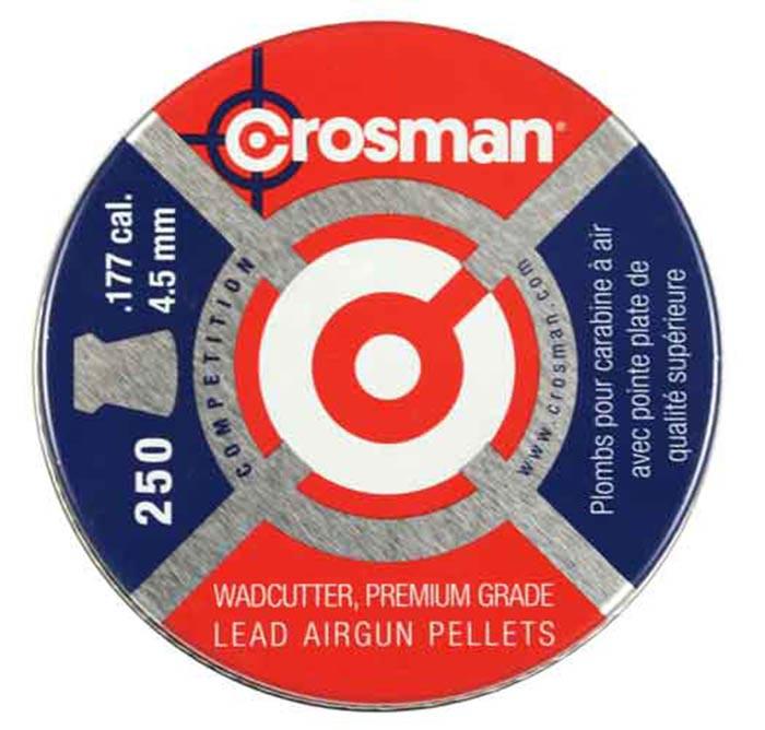 Crosman Wadcutter .177 Cal, 7.4 gr - 250 ct