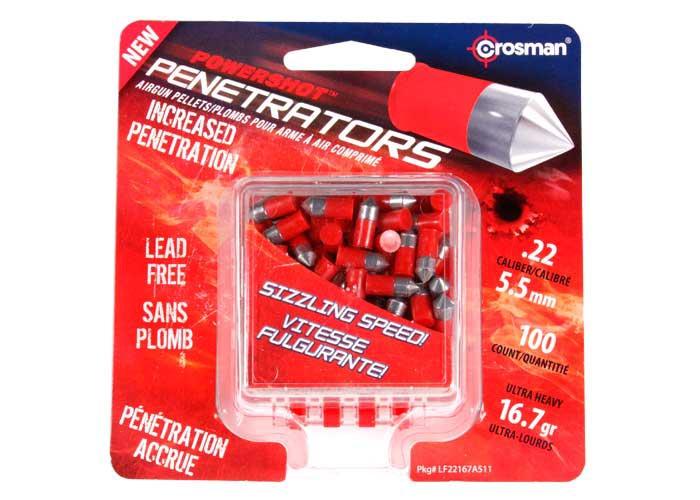 Crosman PowerShot Red .22 Cal, 16.7 gr - 100 ct