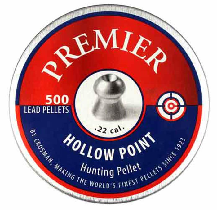 Crosman Premier Hollowpoint .22 Cal, 14.3 gr - 500 ct