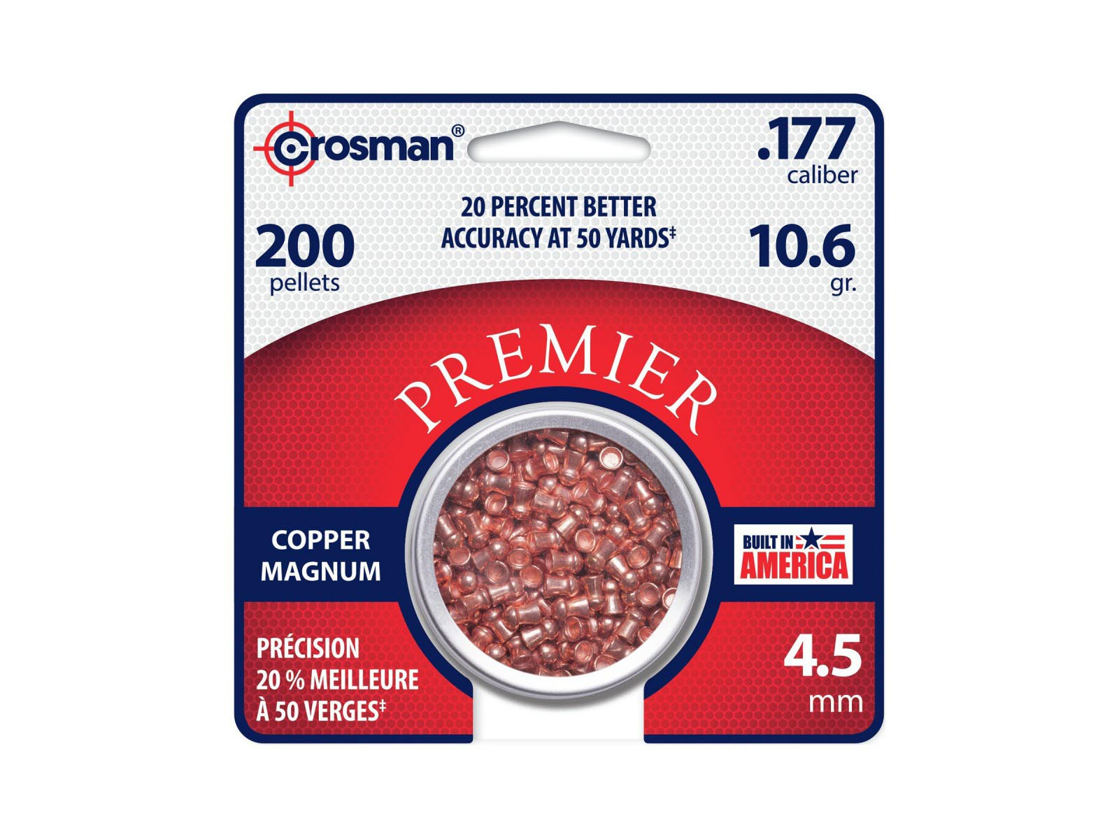 Crosman Premier Copper Magnum .177 Cal, 10.6 gr - 200 ct
