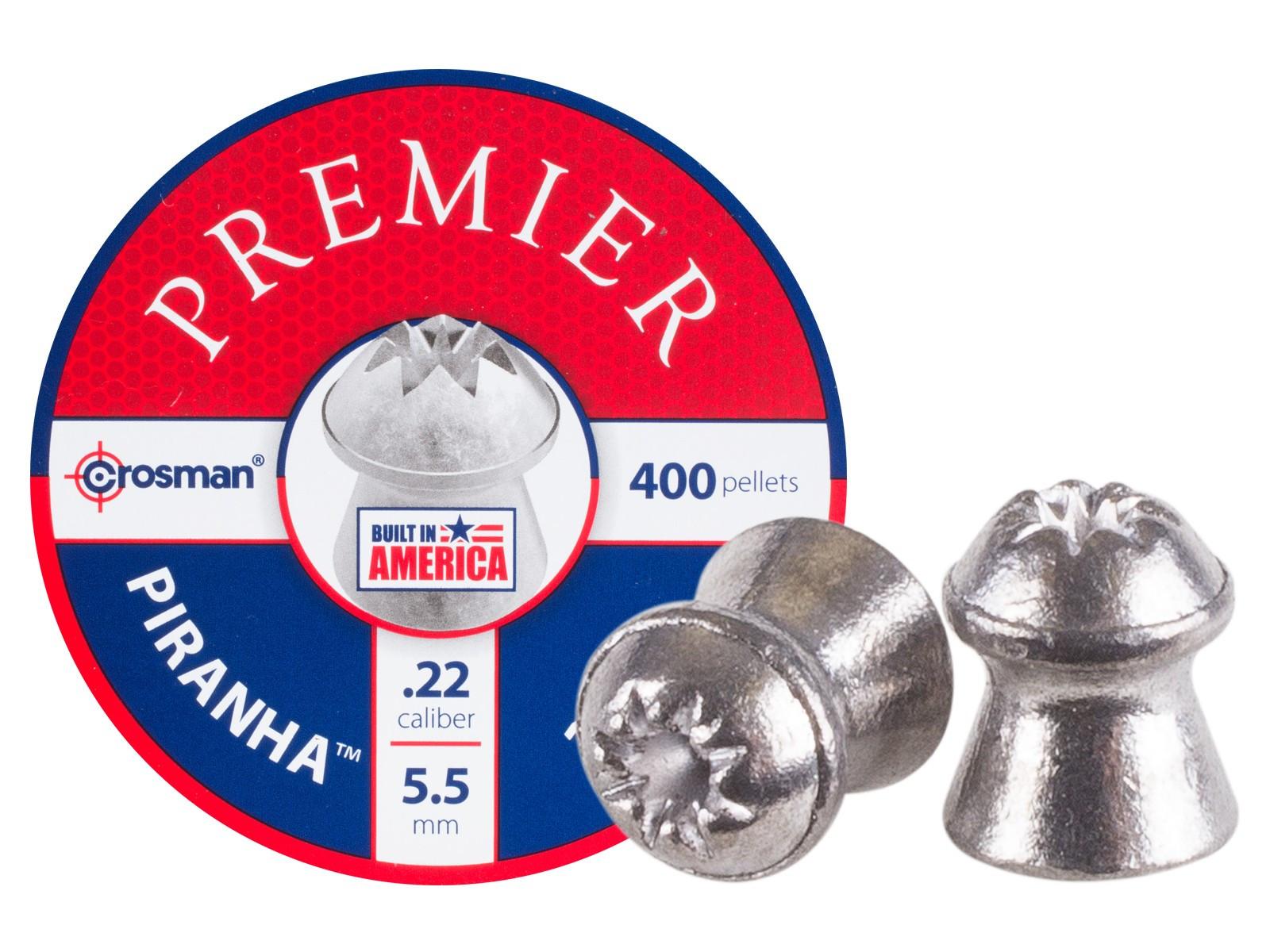 Crosman Premier Piranha .22 Cal, 14.3 gr - 400 ct