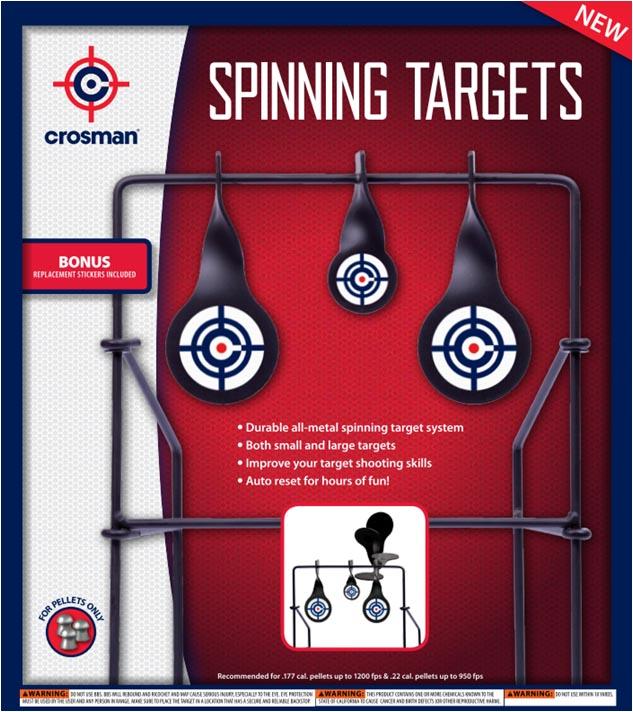 Crosman Spinning Logo Target