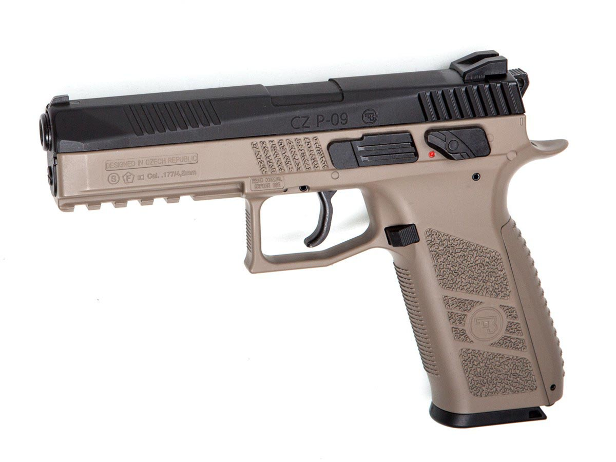 CZ P-09 Duty BB/Pellet Pistol, Dual-Tone FDE