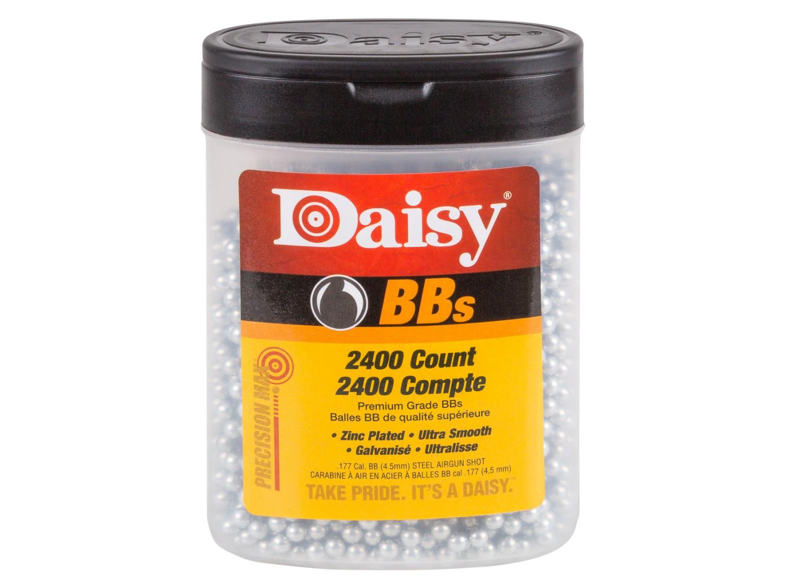 Daisy Premium Grade BBs .177 Cal, 5.1 Grains, Zinc Plated (2400ct)