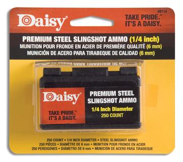 """Daisy Powerline 1/4"""" Steel Slingshot Ammo"""