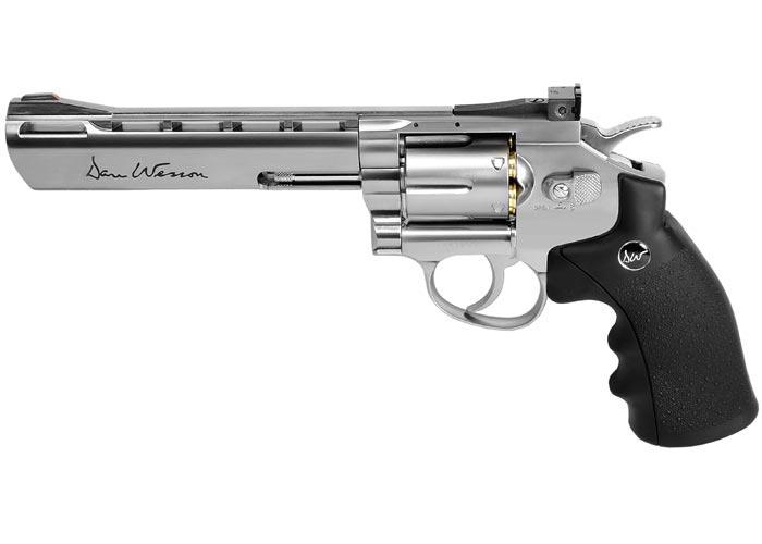 """Dan Wesson 6"""" BB Revolver, Silver"""