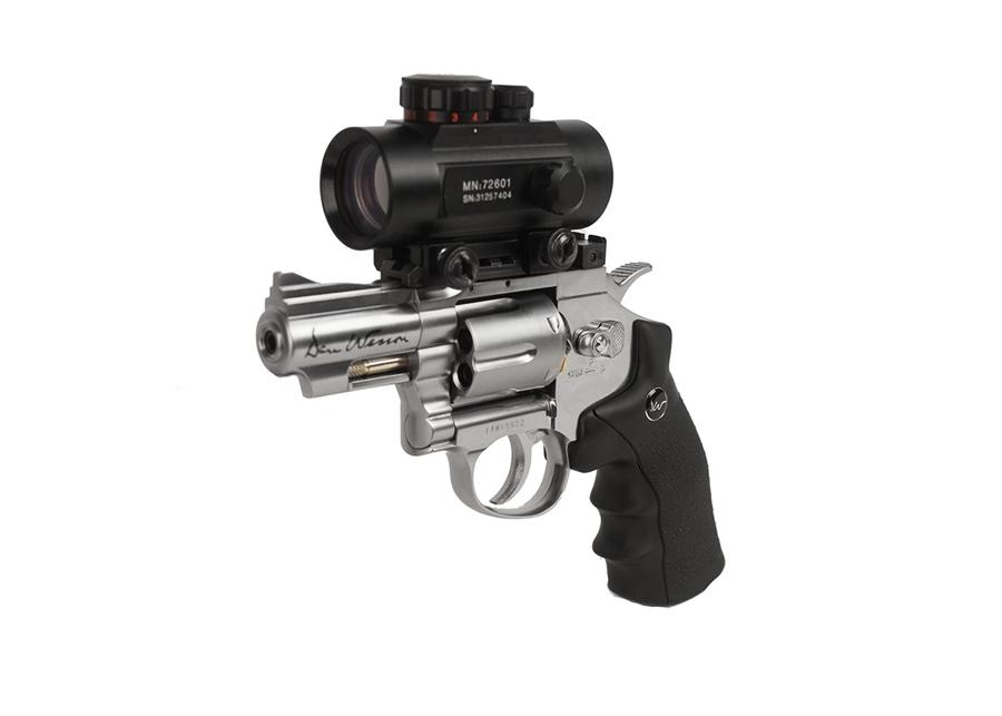 """Dan Wesson 2.5"""" BB Revolver, Silver"""