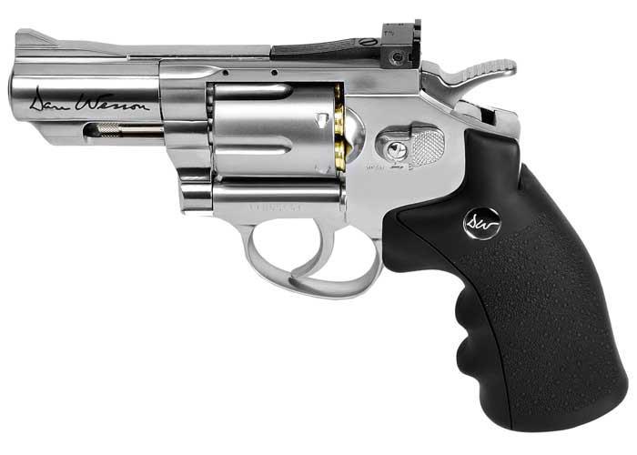 """Dan Wesson 2.5"""" Pellet Revolver, Silver"""