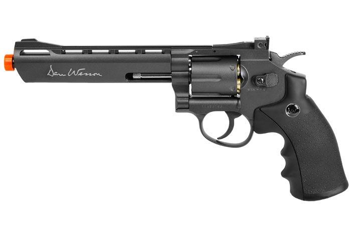 "Dan Wesson 6"" 6mm Airsoft Revolver, Grey"