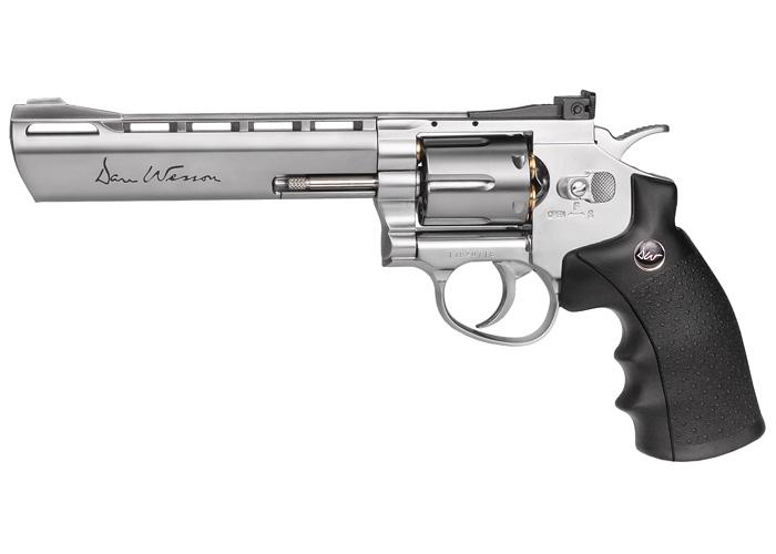 """Dan Wesson 6"""" Pellet Revolver, Silver"""