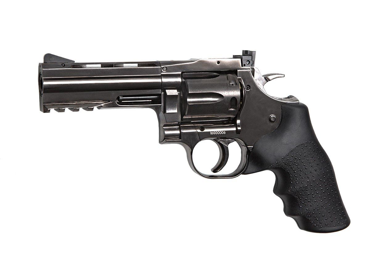 "Dan Wesson 715 4"" BB Revolver, Steel Grey"