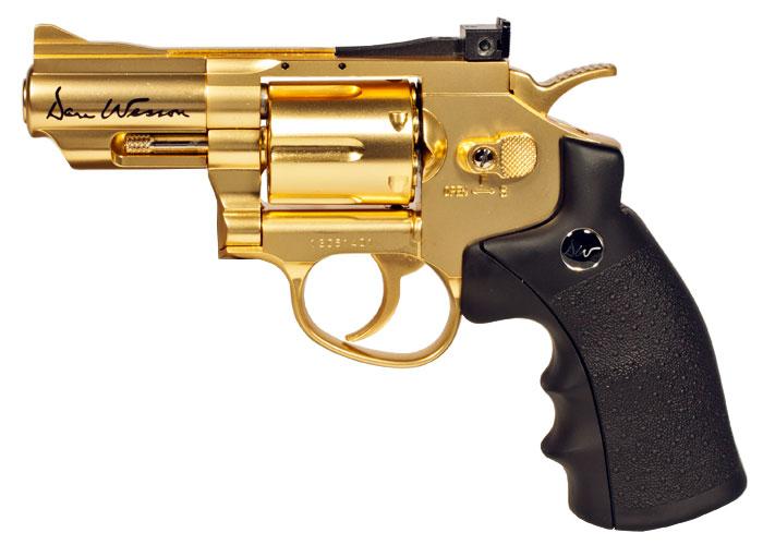 """Dan Wesson 2.5"""" BB Revolver, Gold"""