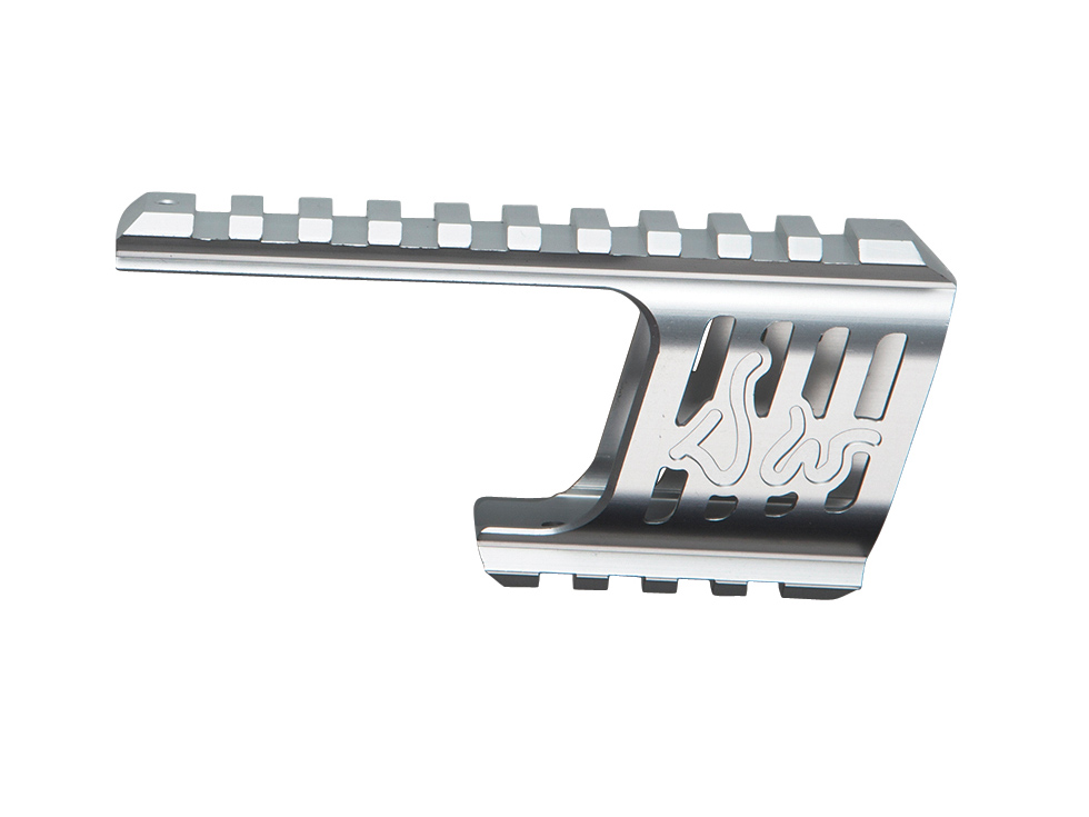 Dan Wesson Custom CNC Rail Mount, Silver