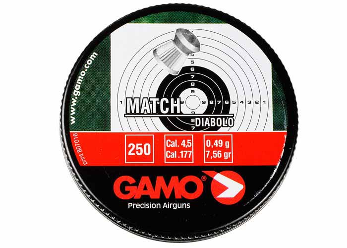 Gamo Match .177 Cal, 7.56 gr - 250 ct