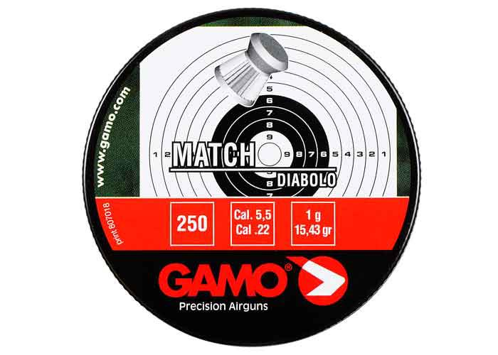 Gamo Match .22 Cal, 15.43 gr - 250 ct