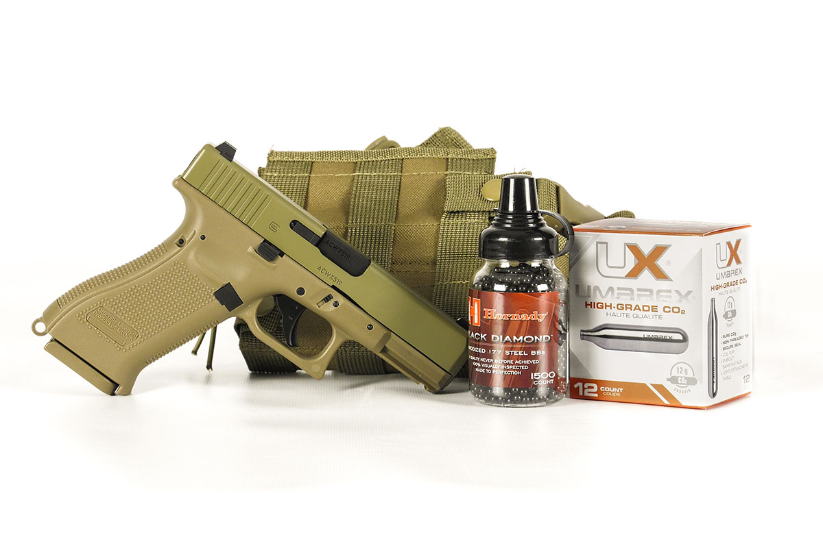Glock 19X BB Pistol Essentials Combo, Tan