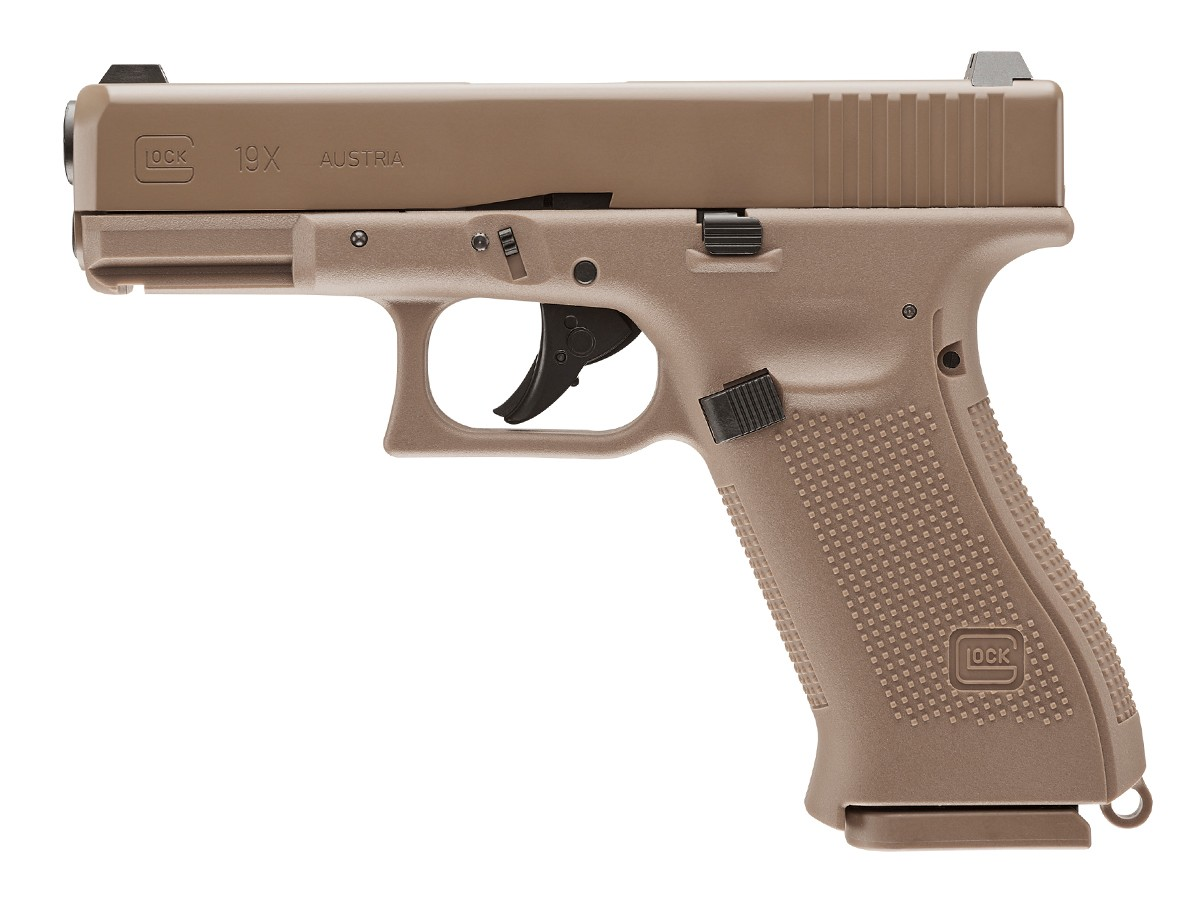 Glock 19X BB Pistol, Tan