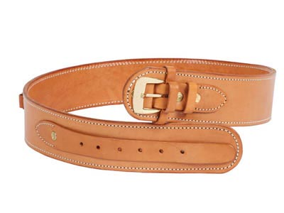 "Western Justice Leather Gun Belt, 30-34"" Waist, Natural"